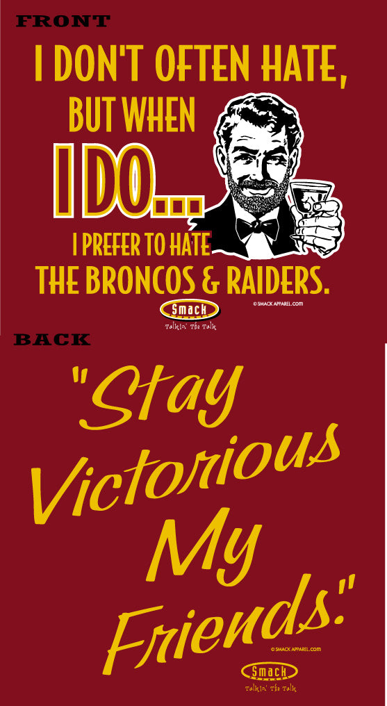 Kansas City Pro Football Shirt | Buy Kansas City Fan Gear | (Anti-Broncos & Raiders) Stay Victorious