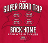 Super Road Trip Back Home Shirt | Tampa Bay Pro Football Apparel | Shop Unlicensed Tampa Bay Gear
