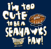Unlicensed Los Angeles Pro Football Baby Bodysuits or Toddler Tees | Too Cute to be a Seahawks Fan!