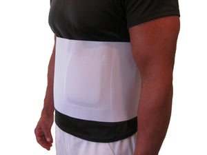 "The FlexaMed umbilical hernia belt provides relief when part of the intestine protrudes through an opening in your abdominal muscles. The umbilical hernia belt/truss provides significant relief from abdominal pain associated with an umbilical or navel hernia Foam pad adds rigidity, padding, and provides a non-elastic zone that helps to direct compression on the hernia Cotton/elastic blend provide breathable, comfortable support  Measures 8"" wide. Made in USA."