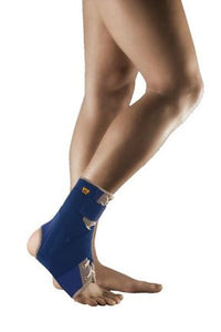 Uriel Thermo Ankle Splint provides comfortable reinforcement for steadying broken, strained or injured ankles. Stabilizes ankle following a fracture or surgery. After removal of a plaster-cast, the splint provides side support. Designed for superior stability, comfort and fit. The splint stabilizes the ankle-joint with 2 supporting rigid splints on the medial side and 2 flexible spirals rods on the lateral side, without limiting the movement of the foot. Premium Neoprene with terry inner lining