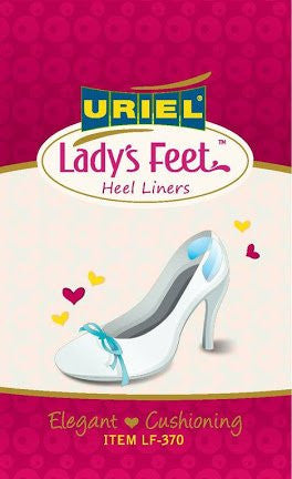 Lady's Feet Back Heel Silicone Cushions for High-Heeled Shoes absorb shock and prevent back pain. They also help prevent shoes slipping off your heels. Ultra-slim, clear and discreet, they are specially shaped for a comfortable fit around the heel.