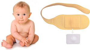 FlexaMed Hernia Gear Infant Umbilical Hernia Belt | Baby Navel Truss Support Belt  | Made in the USA |  fajero para bebe.  Hernia Gear by FlexaMed The pediatric umbilical truss is designed to provide relief to infants suffering from an umbilical hernia. A soft rubber pad adds cushion and provides a non-elastic zone that helps to direct compression on the hernia. Velcro fastener for easy on and off.   Baby Belly Button Belt
