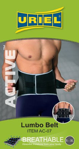 Uriel Active Workout Lumbar Support - One Size Fits 30-42 in.