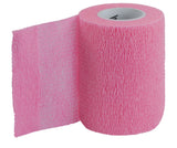 Pink coband self adhesive tape immobilize injuries | Sticks to itself | Compress and support| 3 in X 14.8 ft   Pink Uriel Uriel Cohesive Flexible Bandage is a self-adherent wrap used to secure dressings and immobilize injuries. Sticks to itself - not to skin or hair, secure and protect wounds Controlled compression - will not constrict Leaves no sticky residue on skin Also recommended for compression and support of ligaments, tendons and muscles