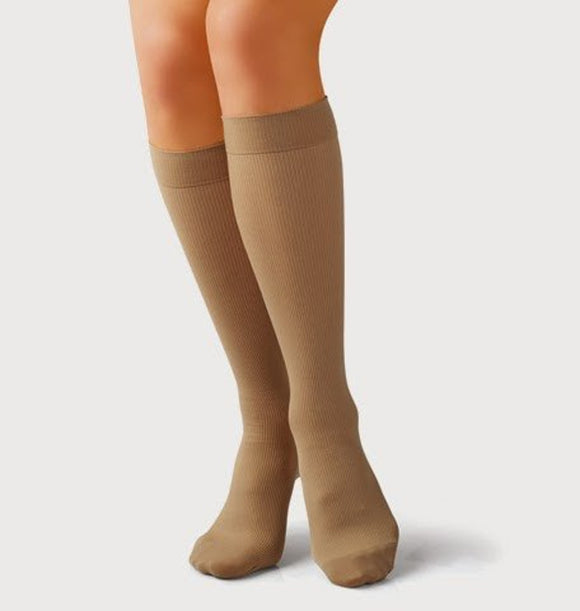Tonus Elast Amber Fiber Elastic Medical Compression Below Knee Socks w/ Toecap - 10-18 mmHg