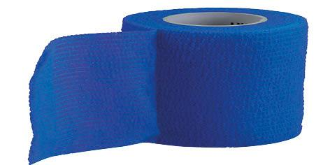Blue Uriel Cohesive Flexible Bandage is a self-adherent wrap used to secure dressings and immobilize injuries. Sticks to itself - not to skin or hair, secure and protect wounds Controlled compression - will not constrict Leaves no sticky residue on skin Also recommended for compression and support of ligaments, tendons and muscles