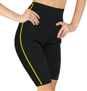 Flexamed Tonus Elast Neoprene Compression Tummy and Thigh Slimming Short improves circulation, facilitates metabolism of the abdominal and hip deeper tissues, skin, subcutaneous fat and muscles Warms the waist helping you shed excess water weight.  Supports without restricting natural movements of muscles and joints including abdomen, hips, thighs.