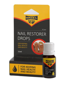 Uriel Nail Restorer Drops Uriel Nail Restorer liquid drops for the treatment of fungal nail conditions Use after removing the infected parts apply the liquid on the nail The complete solution for healthy, beautiful nails Noticeable improvement within weeks if used daily as directed Treats fungus where it grows.  Effective Antifungal nail treatment OTC over the counter