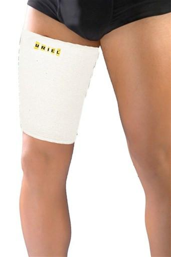 Uriel Thigh Sleeve reduces hamstring and quadriceps pain and strains, facilitating healing and a more rapid return to normal activities Ultimate support and compression for injuries and sprains of the quadriceps, hamstring or groin muscle Thigh Sleeve is suitable for all althletic activities Protection against potential injuries.  Uriel USA Thigh Quad Sleeve