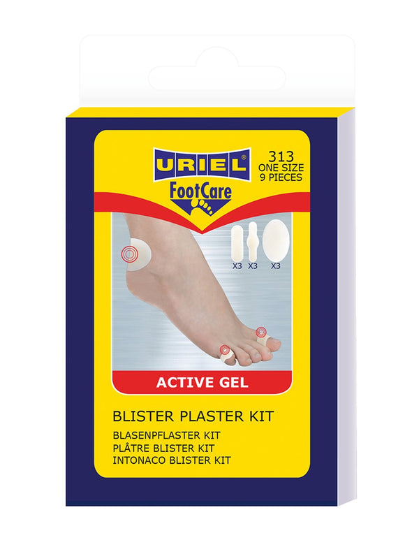 URIEL Blister Plaster Kit | 9-Piece Kit for Heel and Toes
