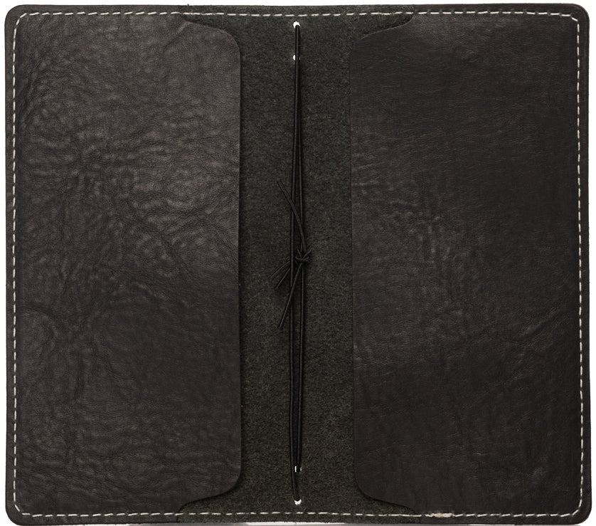 Black Leather Weekly Calendar Cover