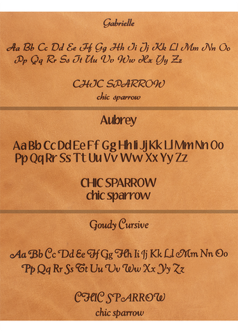 Inscription Font Template for Travelers Notebooks