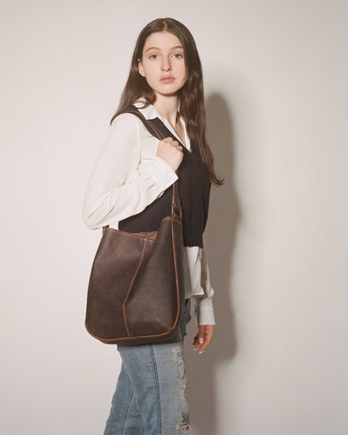 Model with Rachel Tote Bag by Chic Sparrow