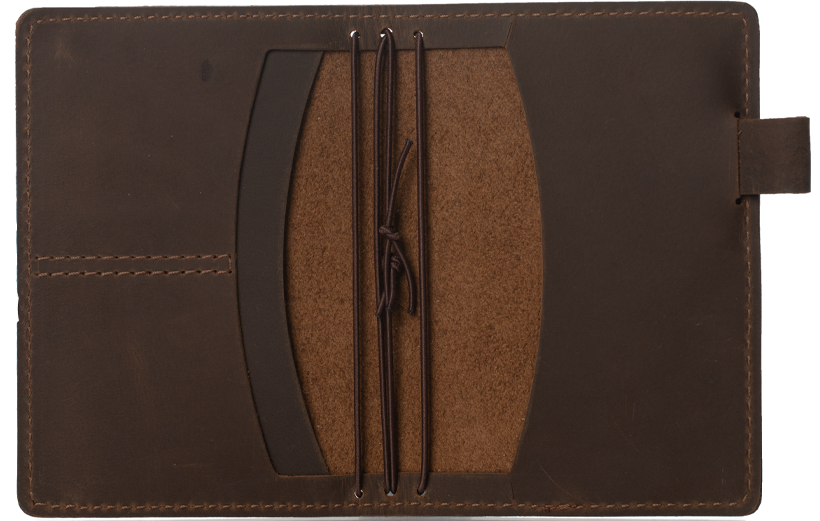 Number 7 Leather Travelers Notebook Cover