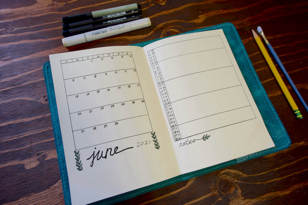 June Plan With Me Monthly Calendar Layout
