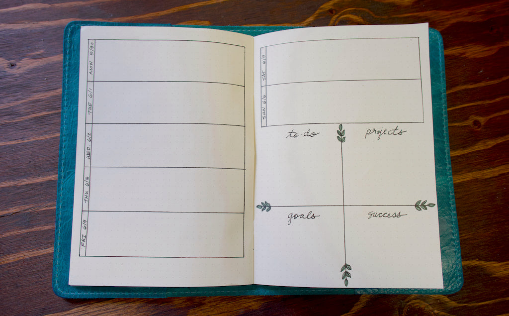June Plan With Me Weekly Calendar Layout
