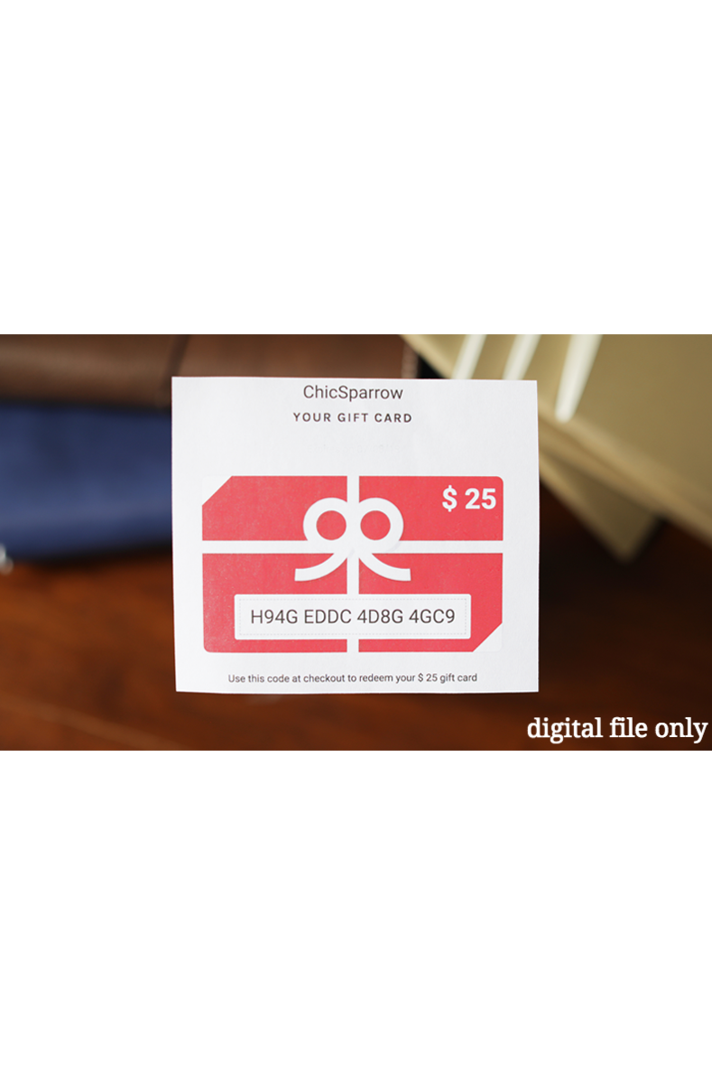File Check Out Card gift card