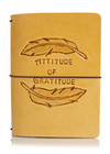 Classic Collector's Hand Tooled Attitude of Gratitude Feathers