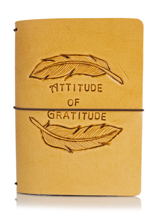 Attitude of Gratitude Feathers | Classic Collector's Hand Tooled