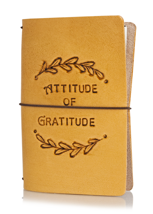 Attitude of Gratitude Laurels | Classic Collector's Hand Tooled