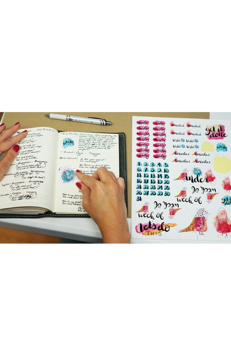 Digital Ali Brown Bullet Journal Stickers
