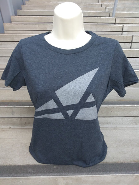 Akron Art Museum Logo T-Shirt - Womens, Charcoal