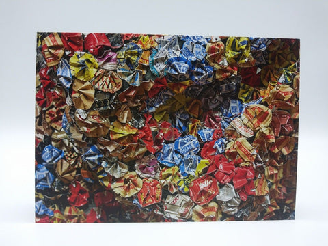 Note Card Featuring Amemo (Mask of Humankind) by El Anatsui