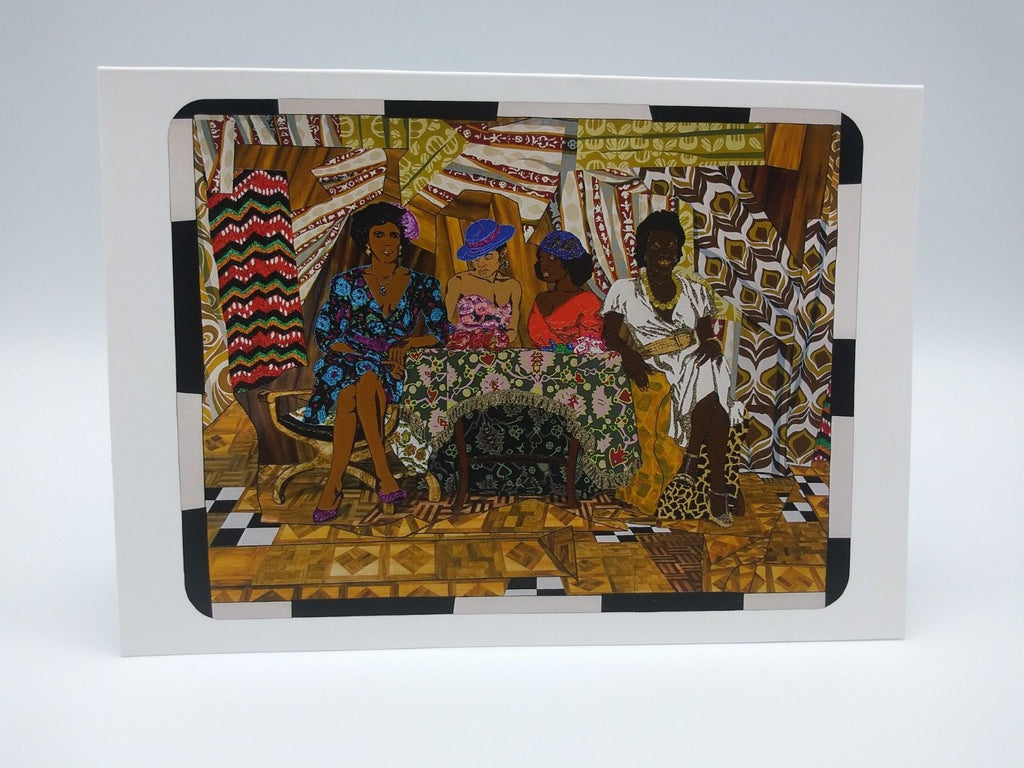 Note Card Featuring Girlfriends and Lovers by Mickalene Thomas