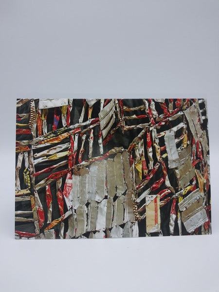 Note Card Featuring Ozone Layer by El Anatsui