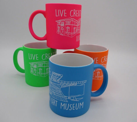 Set of Four Mugs Akron Art Museum Live Creative
