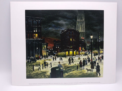 Winter Evening Print by Raphael Gleitsmann