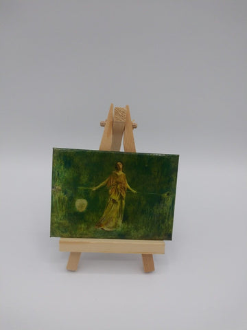 Fridge Magnet Featuring Symphony in Green and Gold by Thomas Wilmer Dewing