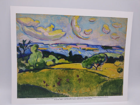 Landscape With Yellow Clouds Print by William Sommer