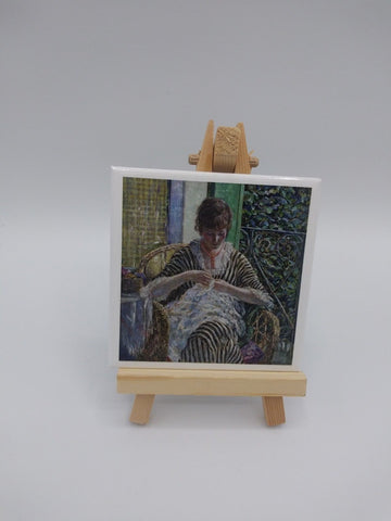 Fridge Magnet Featuring On the Balcony by Frederick Carl Frieseke