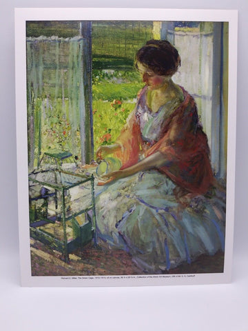 The Green Cage Print by Richard E. Miller