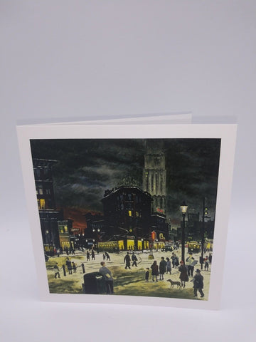 Note Card Featuring Winter Evening by Raphael Gleitsmann