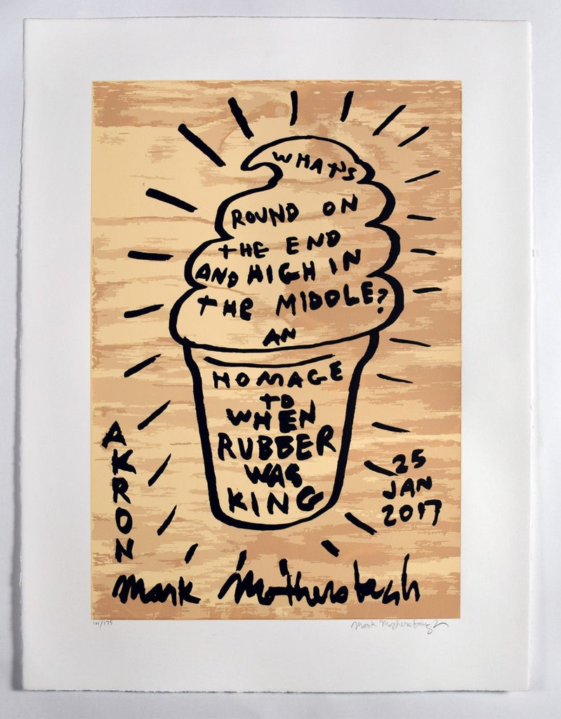 Mark Mothersbaugh An Homage to When Rubber was King Signed and Numbered Print