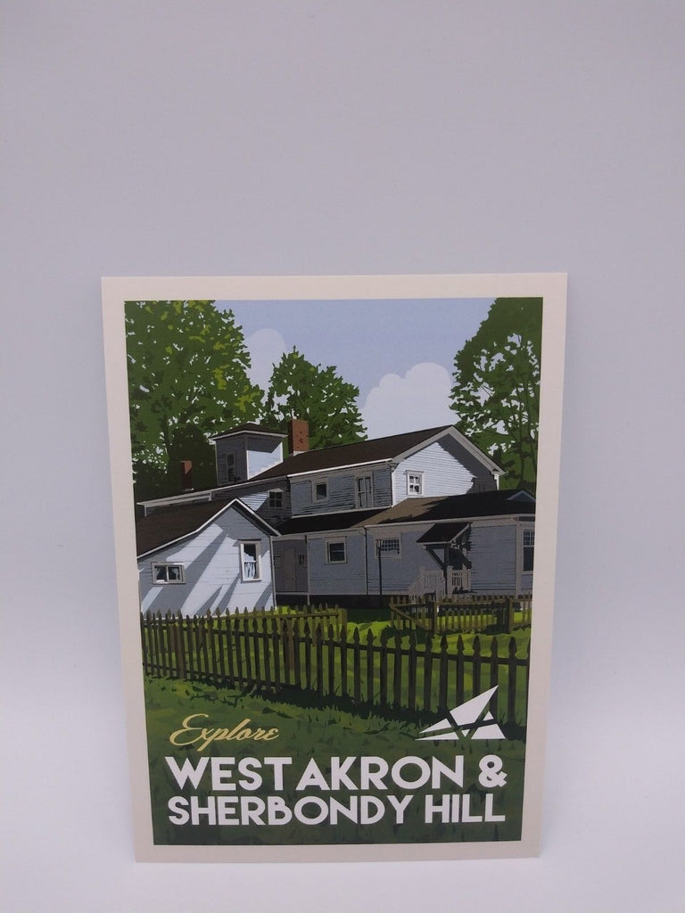 Postcard Set of 12 Explore West Akron and Sherbondy Hill Postcards