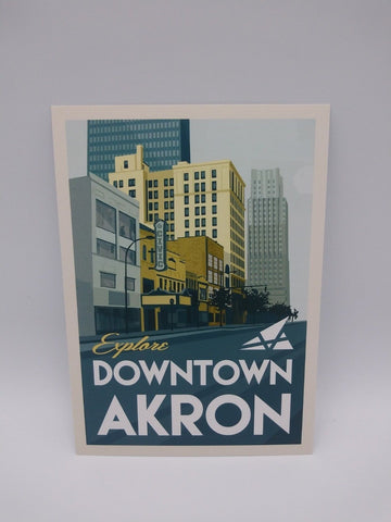 Postcard Set of 12 Downtown Akron