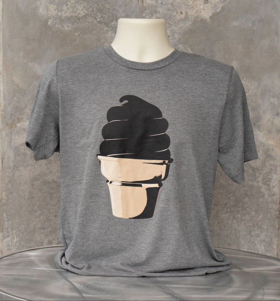 Men's T-Shirt Featuring a Pop Art Graphic of Mark Mothersbaugh's Rubber Kusturd