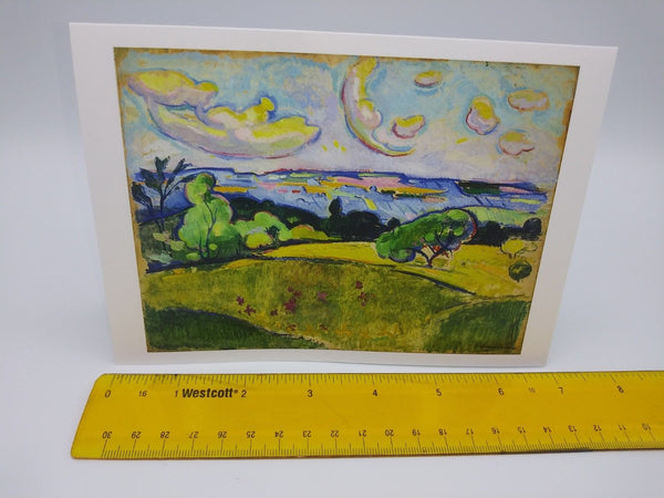 Note Card Featuring Landscape with Yellow Clouds by William Sommer