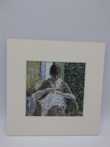 Matted Print of On The Balcony by Frederick Carl Frieseke