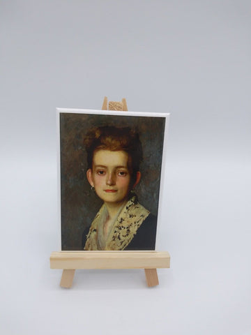 Fridge Magnet Featuring Miss Molly Duveneck by Frank Duveneck