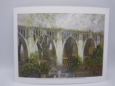 North Hill Viaduct Under Construction Print by Roy E. Wilhelm