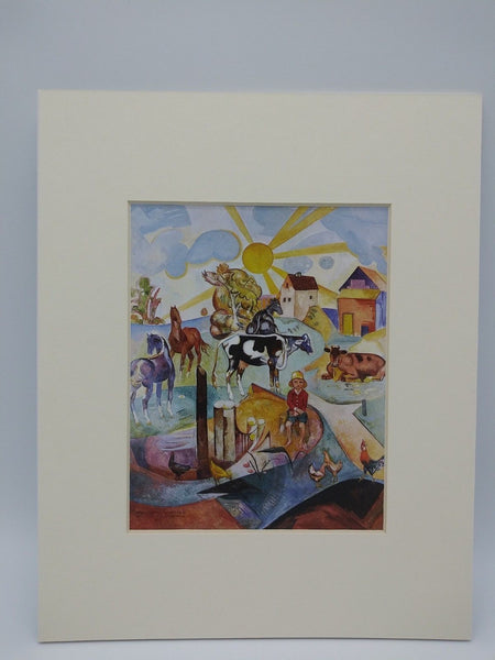 Matted Print of Bordner Mural by William Sommer