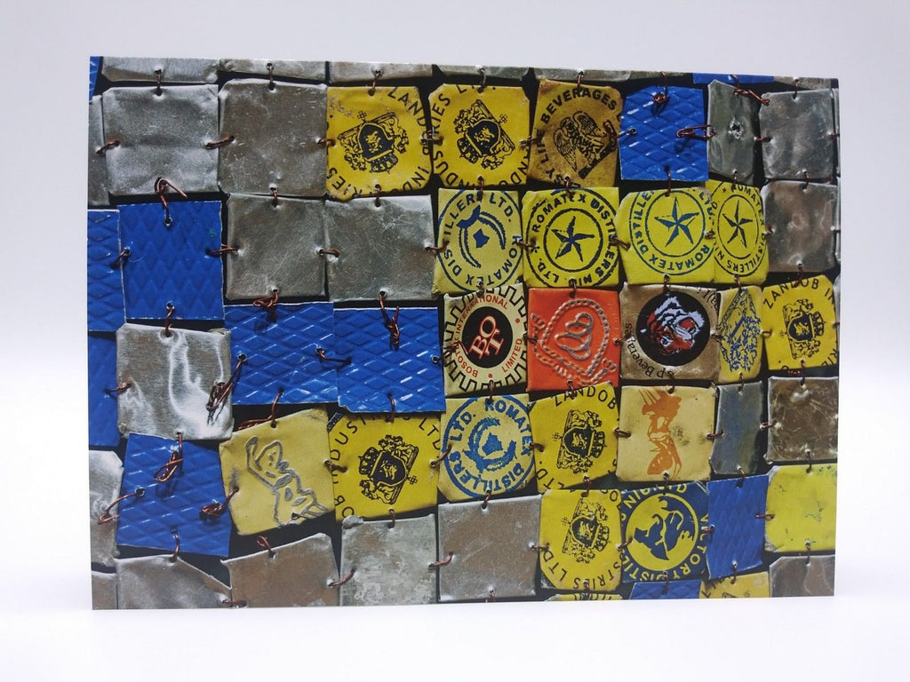 Note Card Featuring Ink Splash by El Anatsui