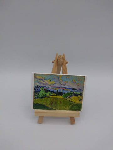 Fridge Magnet Featuring Landscape with Yellow Clouds by William Sommer