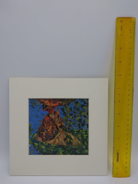 Matted Print of Through The Vines by Frederick Carl Frieseke