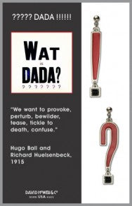 DADA - Black Bead, Red Enamel